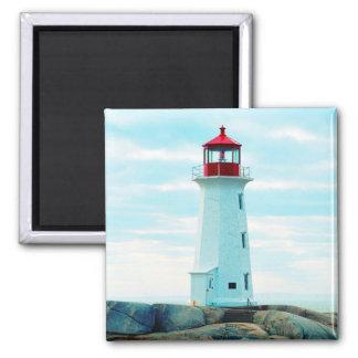 Aimant Vieux phare, océan bleu, maritime, nautique