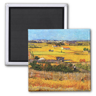 Aimant Vincent van Gogh - récolte aux beaux-arts de Crau
