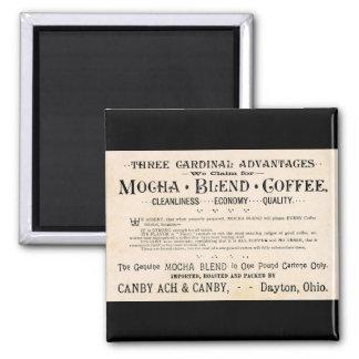 Aimant vintage d'annonce de café