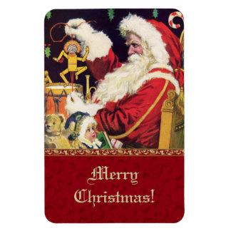 Aimant vintage de cadeau de Noël du père noël Magnet Rectangulaire
