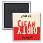 Aimant vintage de carré de lave-vaisselle de conce