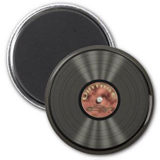 Aimant vintage de disque vinyle