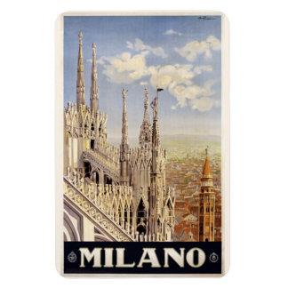 Aimant vintage de Milan Milan Italie Magnets En Rectangle