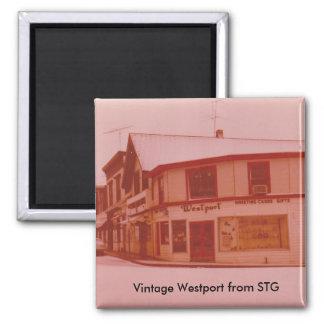 Aimant vintage de Westport - endroit de chemin de