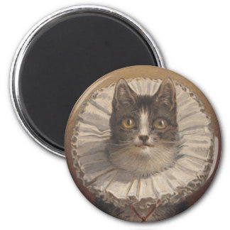 Aimant vintage drôle de chat d'Edwardian