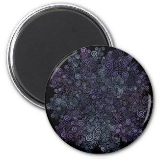 Aimant violet 3d et turquoise psychédéliques