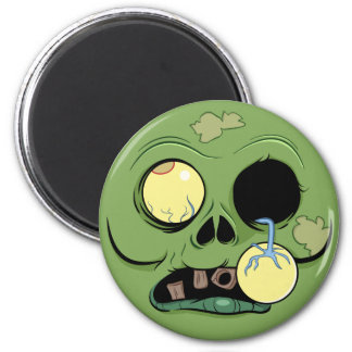 Aimant Visage de zombi avec l'oeil sautant