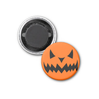 Aimant Visage mauvais Sihouet de citrouille de Halloween