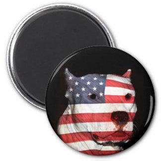 Aimant Visage patriotique de pitbull