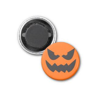 Aimant Visage Sihouette3 de citrouille de Halloween