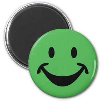 Aimant Visage souriant drôle + votre backg. et idées