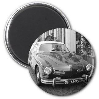 Aimant Voiture classique Karmann Ghia B&W