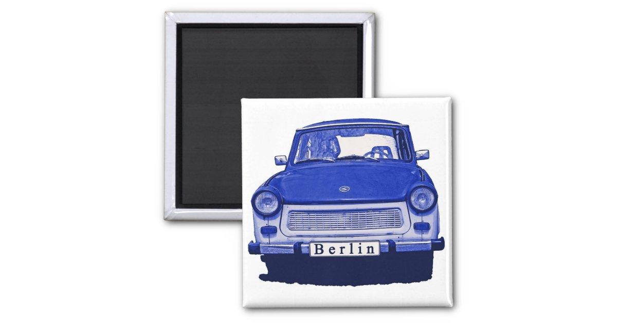 aimant voiture de trabant dans le bleu berlin. Black Bedroom Furniture Sets. Home Design Ideas