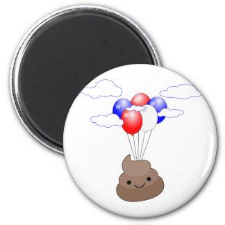 Aimant Vol de Poo Emoji avec des ballons