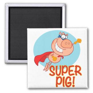 Aimant vol superbe de porc de super héros de porc