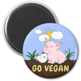 Aimant Vont le végétalien - porc et poulet mignons