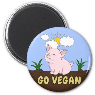 Aimant Vont le végétalien - porc mignon
