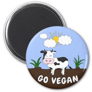 Aimant Vont le végétalien - vache mignonne