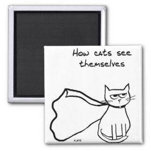 Aimant Votre chat le super héros - cadeau drôle de chat