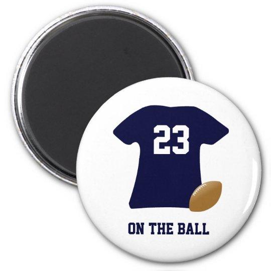 Aimant Votre chemise du football avec la boule