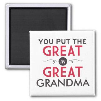 Aimant Vous avez mis le grand dans la grande grand-maman