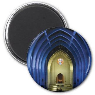 Aimant Voûtes dans l'église bleue