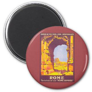 Aimant Voyage vintage, Colisé, Italien de Rome Italie