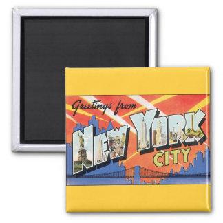 Aimant Voyage vintage NYC, salutations de New York City