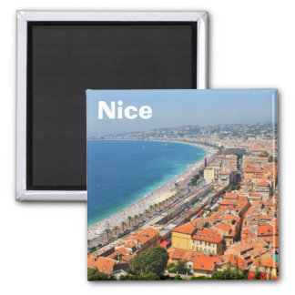 Aimant Vue aérienne de la Côte d'Azur à Nice, France