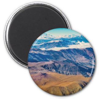Aimant Vue aérienne de montagnes des Andes, Chili