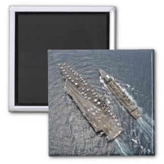Aimant Vue aérienne de porte-avions USS Ronald Reag