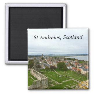 Aimant Vue aérienne de ville de Saint Andrews de tour de