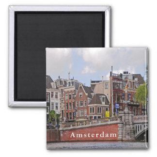 """Aimant Vue d'Amsterdam dans le secteur """"du pont bleu """""""