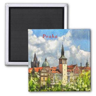 Aimant Vue de Prague d'île de Streletsky