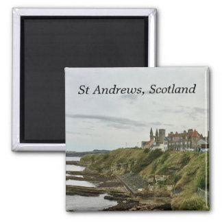 Aimant Vue d'horizon de ville de Saint Andrews Ecosse de