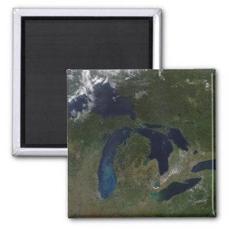 Aimant Vue satellite des Great Lakes