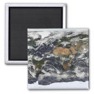 Aimant Vue satellite détaillée de la terre