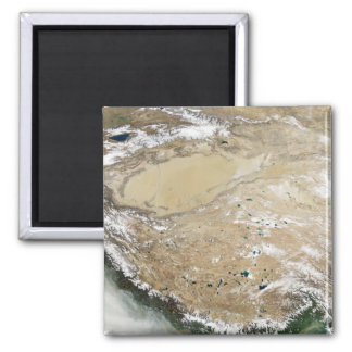 Aimant Vue satellite du plateau tibétain
