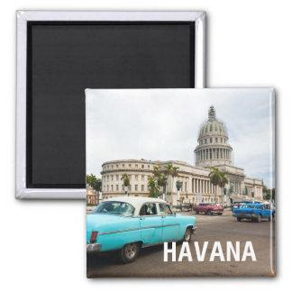 Aimant Vue sur un bâtiment de capitol à La Havane, Cuba