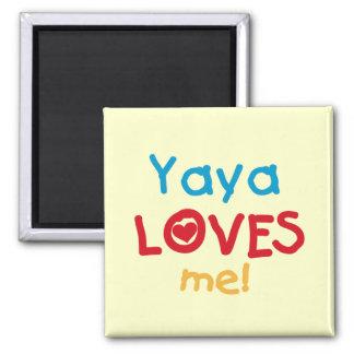 Aimant Yaya m'aime des T-shirts et des cadeaux