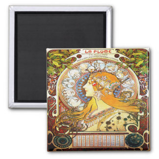 Aimant Zodiaque 1896 d'Alfons Mucha