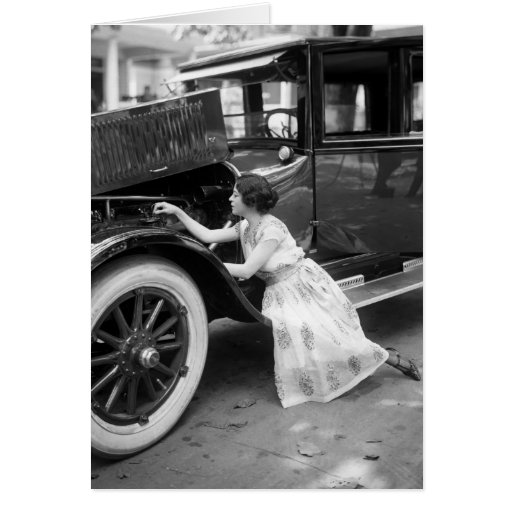aimer ma vieille voiture les ann es 1920 carte de v ux zazzle. Black Bedroom Furniture Sets. Home Design Ideas