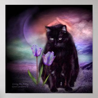 Aimer mon affiche/copie d'art de Kitty