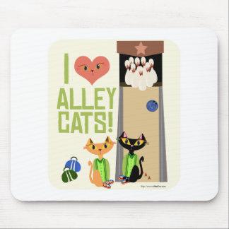 Aimez ces chats d'allée tapis de souris