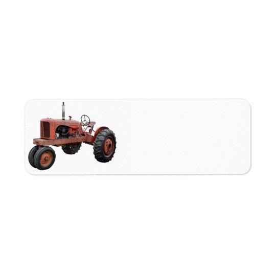 Aimez ces vieux tracteurs rouillés étiquettes d'adresse retour