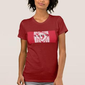 AIMEZ la chemise pour la canneberge/rouge/blanc de T-shirt