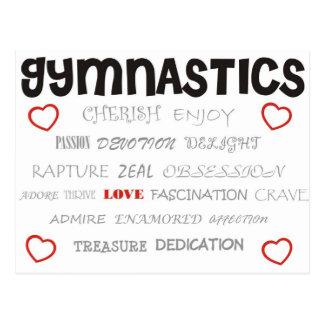 Aimez la gymnastique carte postale