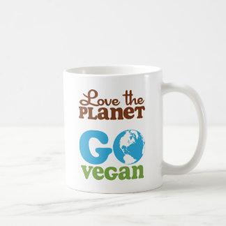 Aimez la planète vont végétalien mug