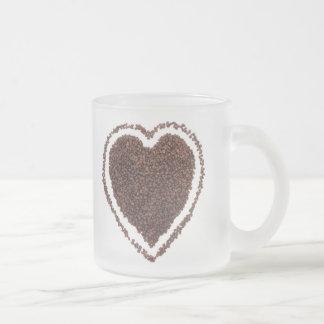 Aimez le CAFÉ Mug En Verre Givré