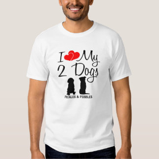 Aimez mes DEUX chiens T-shirt